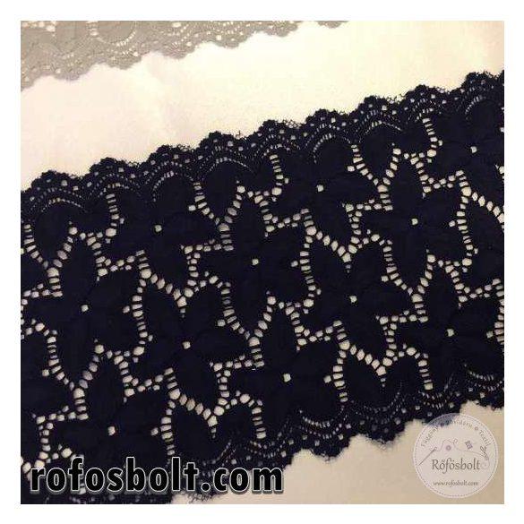 16 cm széles elasztikus csipke: sötétkék