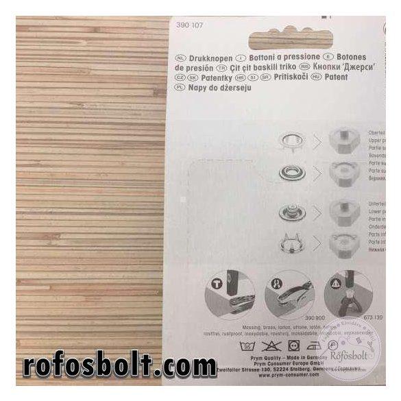 Prym 10mm-es fém bébipatent (390 107)