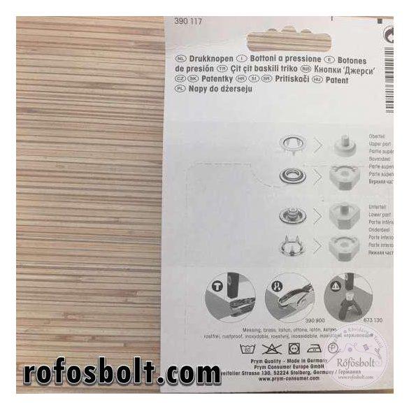 Prym 12mm-es gyöngyházfényű fém patent (390 117)