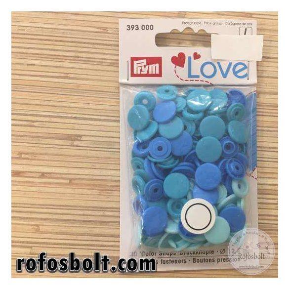 Kék kör alakú műanyag patent csomag (393 000)