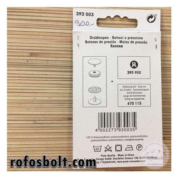 Prym Love szürke és fekete műanyag patent (393 003)