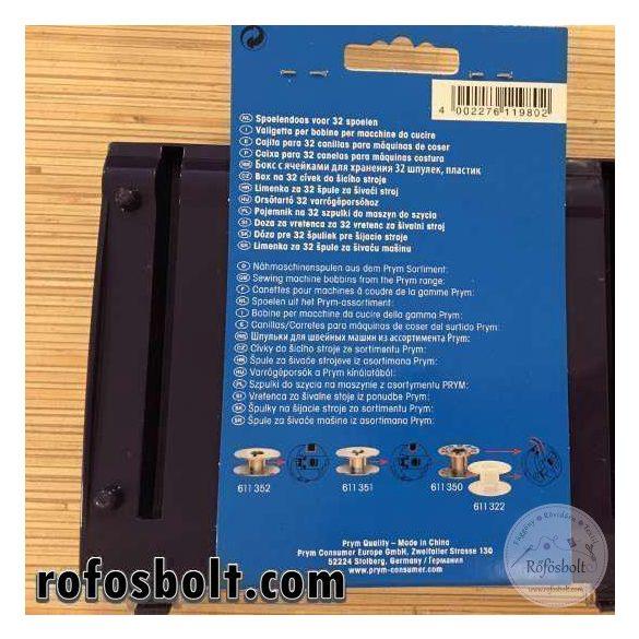 Prym műanyag orsótartó doboz 32 orsóhoz (611 980)
