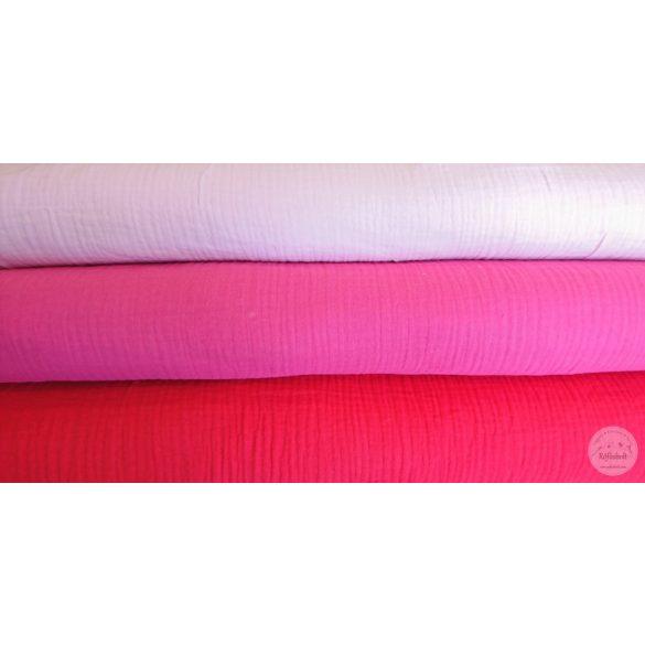 Pink puha dupla géz anyag (ME4495)