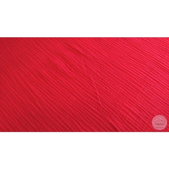 Piros puha dupla géz anyag (ME4496)