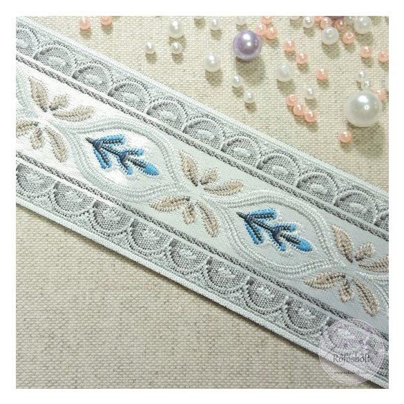 Reneszánsz szalag  kék, drapp (SZ21)