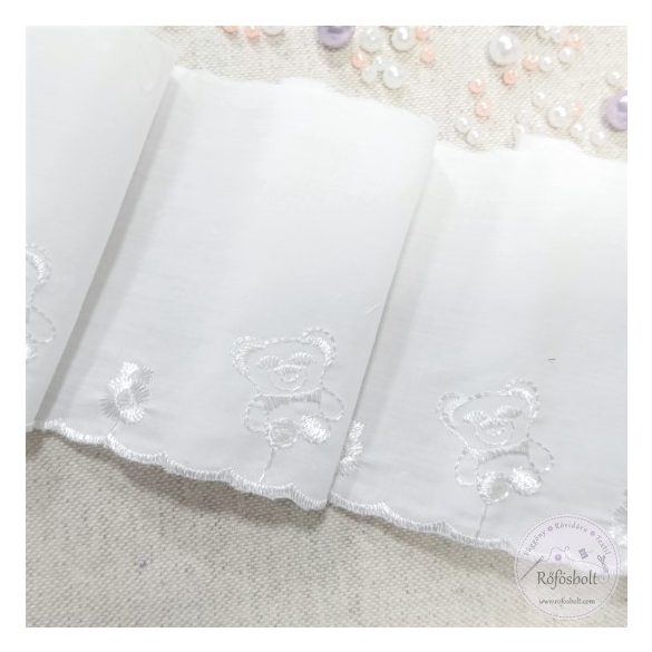 Macis fehér madeira szalag (SZ26)
