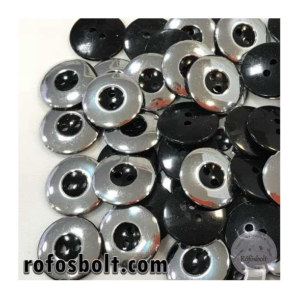 Ezüst-fekete gomb (2)