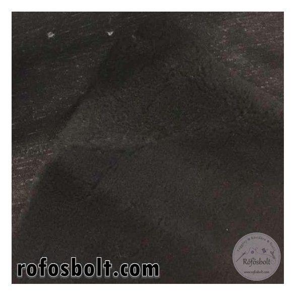 Fekete sűrű (báránykás hatású) rövidszörű műszőrme