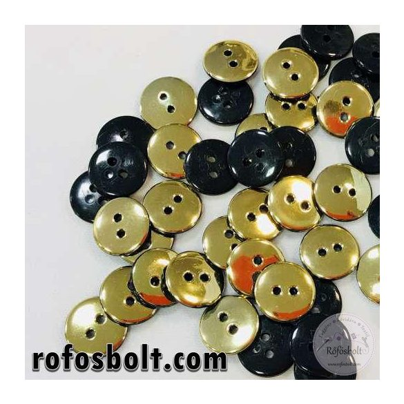 Fekete arany kicsi gomb