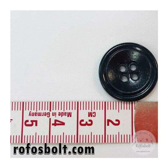 Fekete dupla peremű gomb (2)