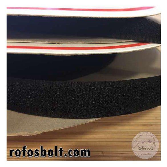 Fekete varrható tépőzár - 2 cm széles