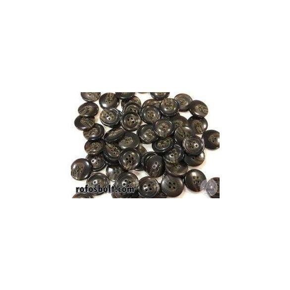 Fényes barna melíros öltöny gomb (3)