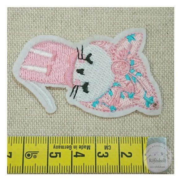 Rózsaszín kendős cica (FM140)