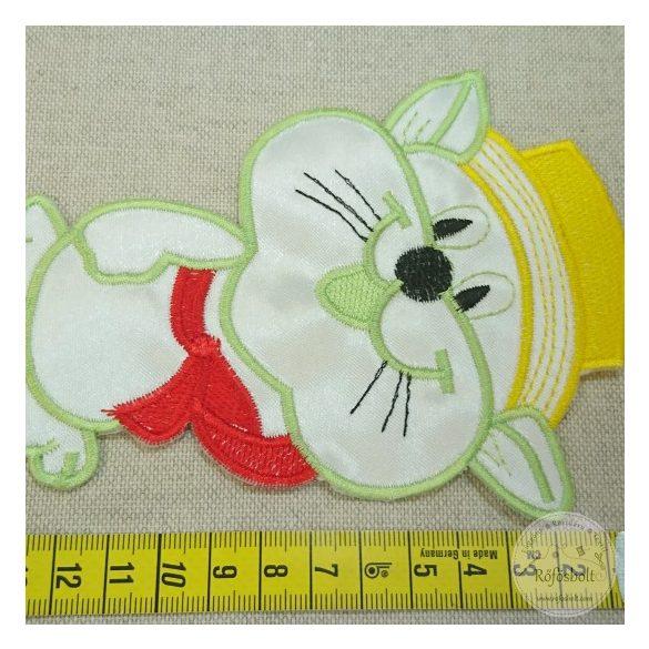 Felvarrható folt: Sárga kalapos macska (FM158)