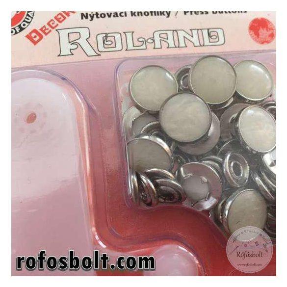 Koh-i-Noor Decor Roland: gyöngyházfényű fémpatent beütő eszközzel (12.6mm)