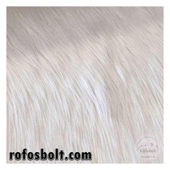 Halványszürke-fehéres 7 cm hosszú műszőrme 20 cm-es csík