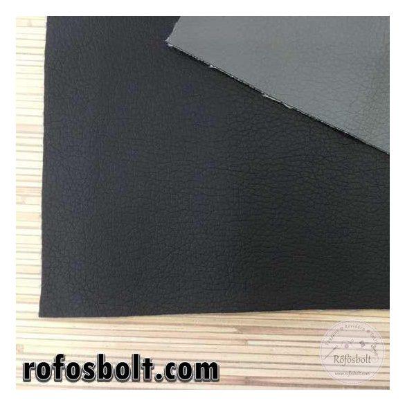 Fekete textilbőr K (Kaiman780) 140 cm széles