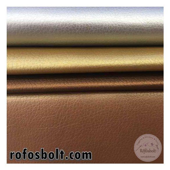 Metál ezüst textilbőr K (Kaiman1003) 140 cm széles