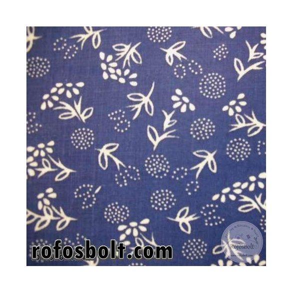 Kék színű kékfestő (pitypangos) pamutvászon (ME115)