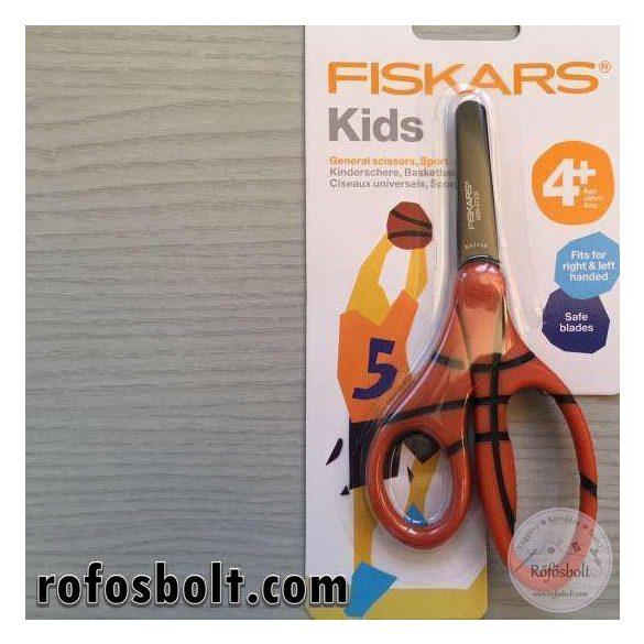 Fiskars kosárlabda mintás markolatú gyerekolló