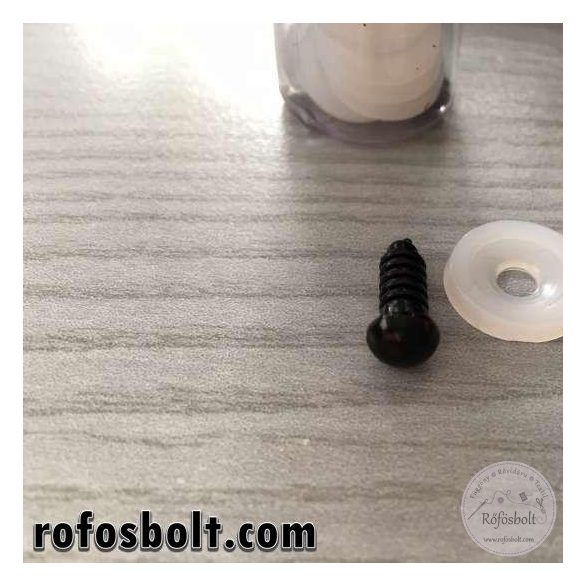 Biztonsági maciszem: fekete 6mm-es (kód:1)