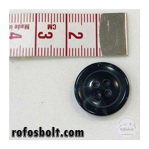 Márványos fekete-sötétszürke gomb (3)