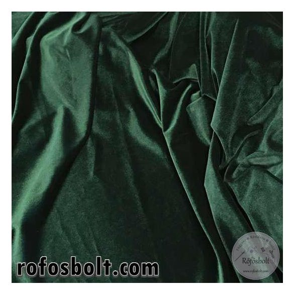 Sötét zöld elasztikus fényes plüss bársony (ME1059)