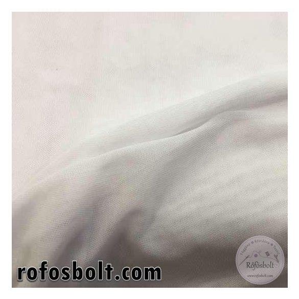 Fehér elasztikus, lukacsos táncruha anyag (ME1196)