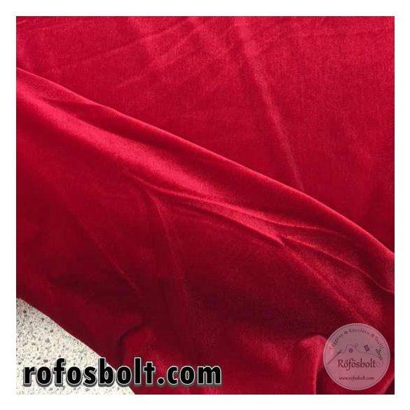 Piros elasztikus fényes bársony (ME1364)