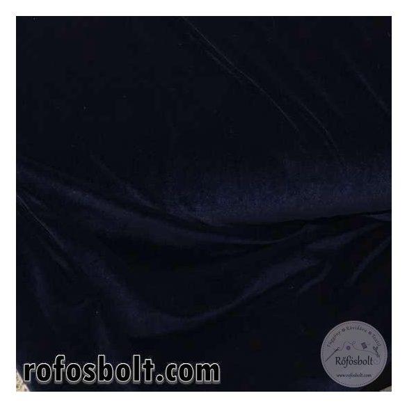 Sötétkék elasztikus bársony (ME1366)