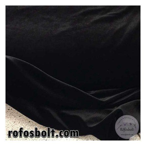 Fekete elasztikus fényes bársony (ME1367)