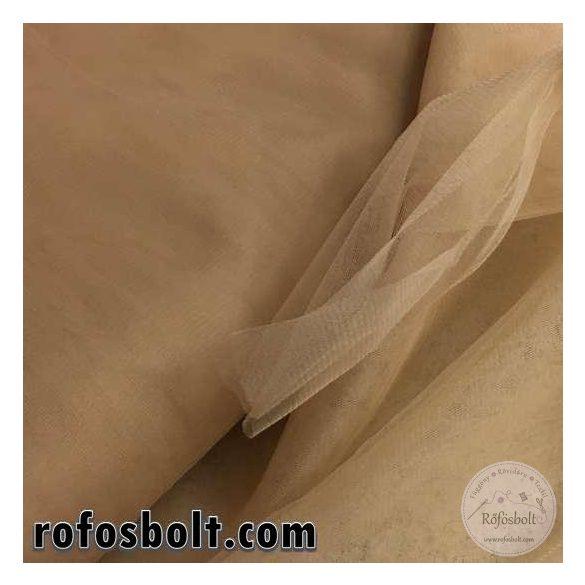 Testszínű elasztikus fátyol tüll (ME1442)