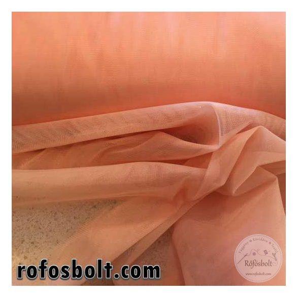 Barack színű elasztikus fátyol tüll 300 cm széles (ME1628)