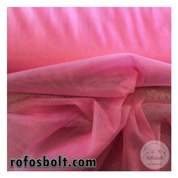 Erős rózsaszín elasztikus fátyol tüll 300 cm széles (ME1629)