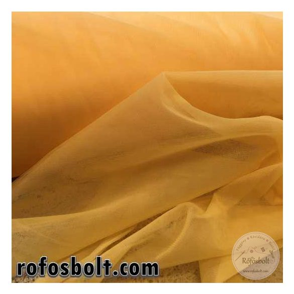Sárga elasztikus fátyol tüll 300 cm széles (ME1631)