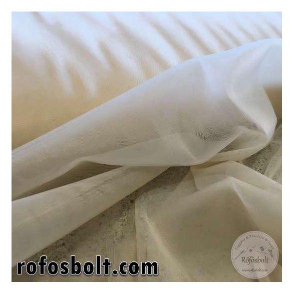 Krém színű elasztikus fátyol tüll 300 cm széles (ME1633)