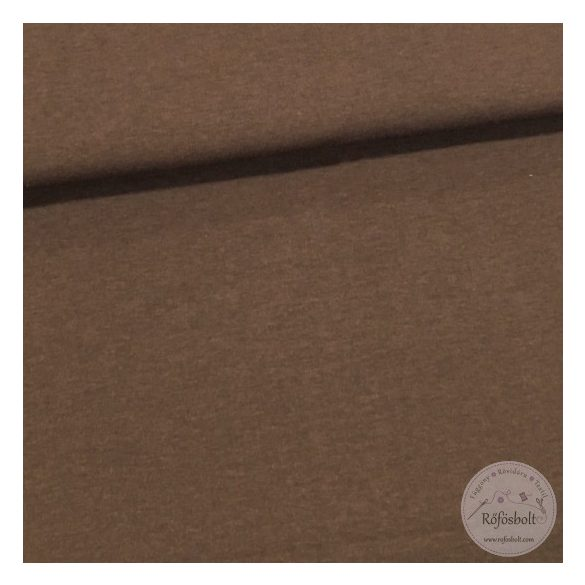 Csokibarna pamut jersey (ME1709)