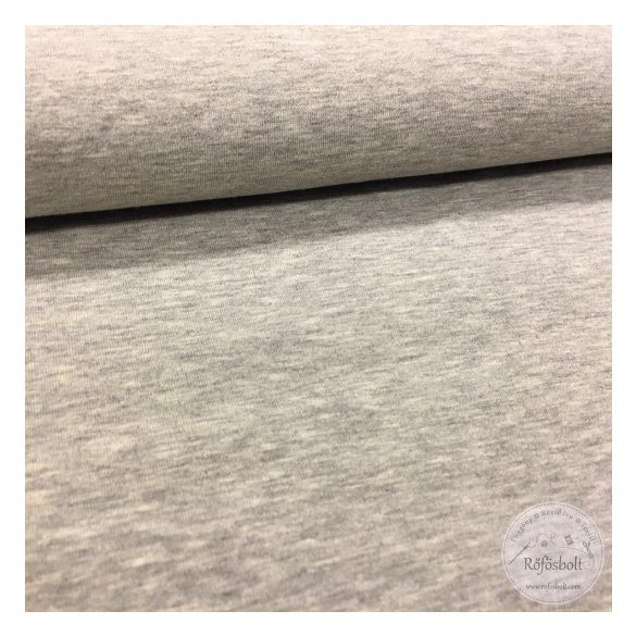 Világos melíros szürke pamut jersey (ME1712)