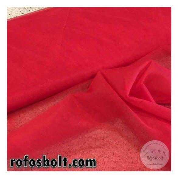 Piros fátyol tüll (puha) (ME1756)