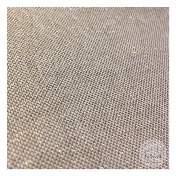Natúr színű IMPREGNÁLT, arany szálakkal beszőtt textil (ME1953)