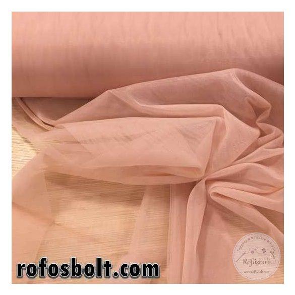 Fáradt rózsaszín (púder) elasztikus fátyol tüll (GL: fukszia) ME2012