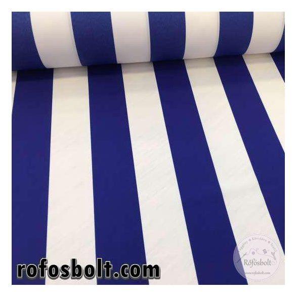 Fehér-Kék CSÍKOS UV-álló és vízlepergető napernyővászon anyag (ME2345)