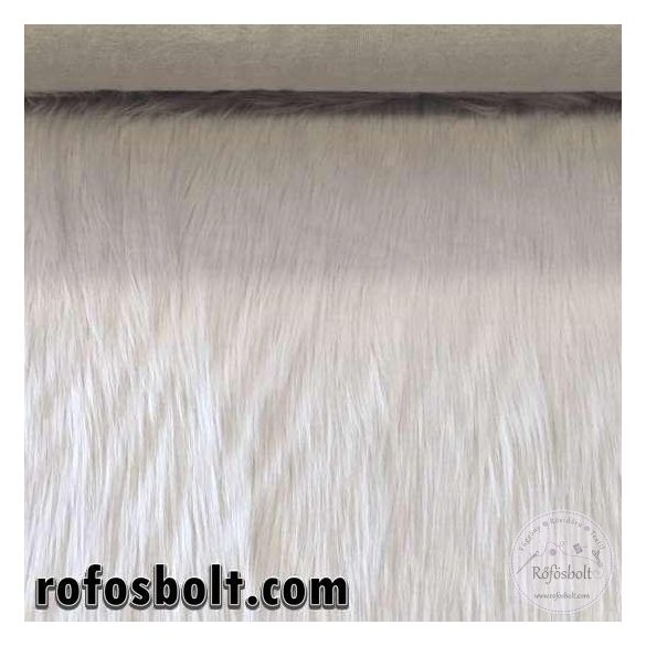 Halványszürke-fehéres 7 cm hosszú műszőrme (ME2651)