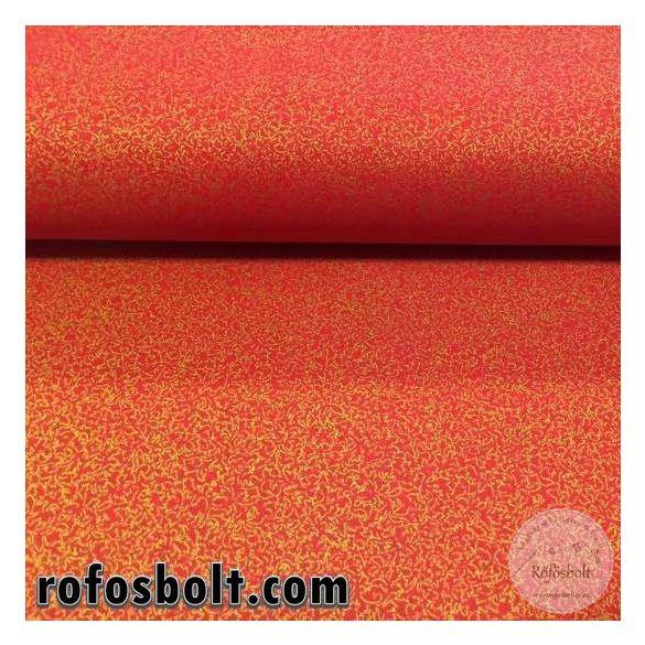 Piros alapon arany kismintás pamutvászon (ME2743)