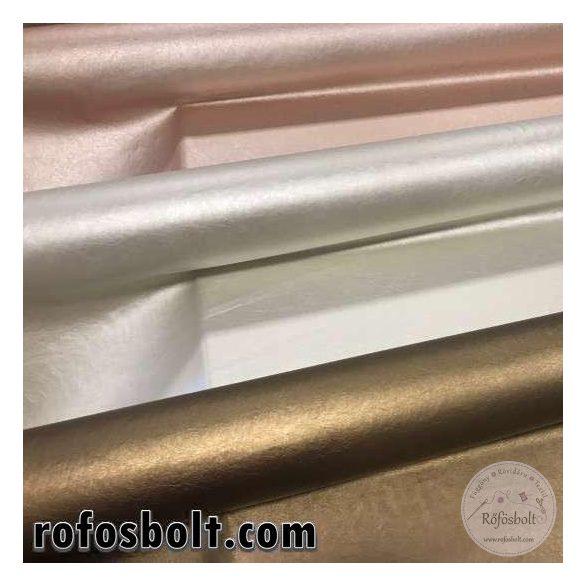 Gyöngyház fehér elasztikus műbőr-K(ME2768)