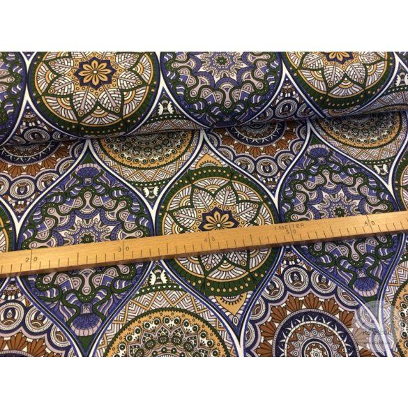 Molly kék-barnás mandalás dekortextil (AFME2950)