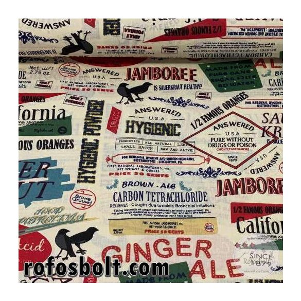 Jamboree/Ginger ale pamutvászon (ME3040)