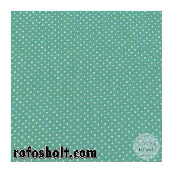 Aqua green 2 mm-es pöttyös pamutvászon (ME3096)