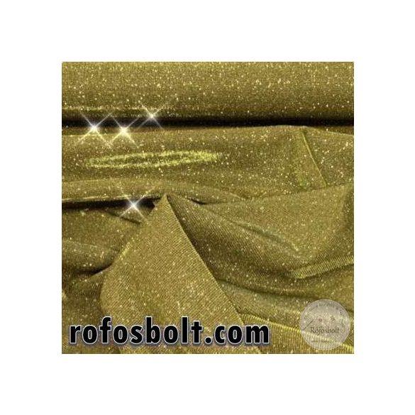 Lurex: Arany (100% PE, elasztikus) anyagában arany fénnyel (ME3100)