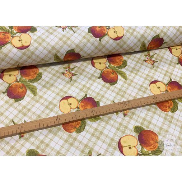 Teflonos bevonatú kockás alapon almás lakástextil (ME3157)